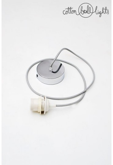 The single lustrous chrome pendant.