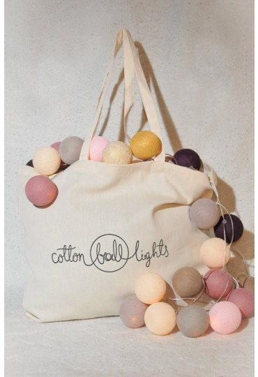 Stylish Carrier Bag Cotton Ball Lights