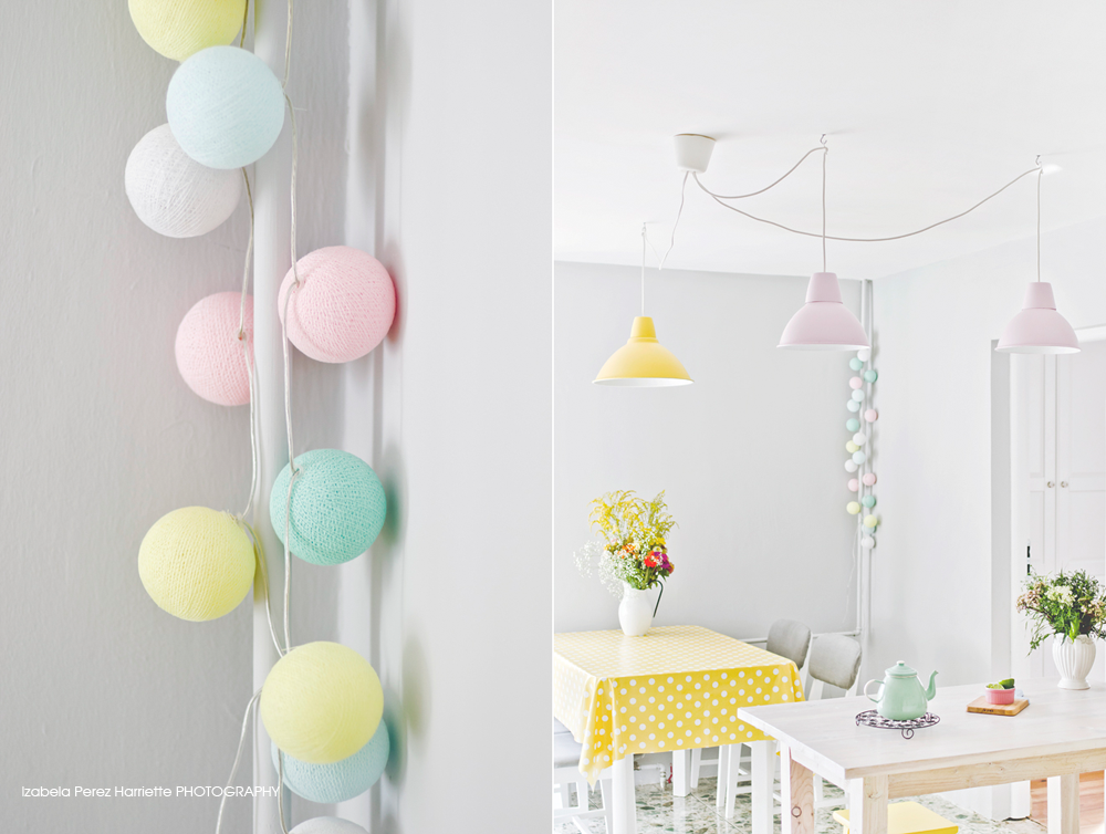 Cotton ball lights w mediach - Cotton ballspractical ideas ...
